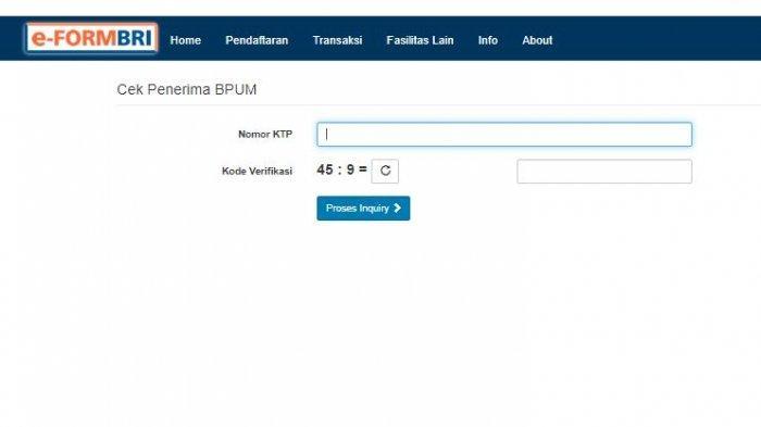 Begini Cara mencairkan BLT UMKM Rp 2,4 Juta, Cek Penerima Bantuan Login di eform.bri.co.id/bpum