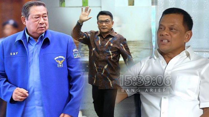 Susilo Bambang Yudhoyono, Moeldoko, Gatot Nurmantyo Sumber: KOMPAS/TRIBUNNEWS/CAPTURE CHANNEL BANG ARIEF