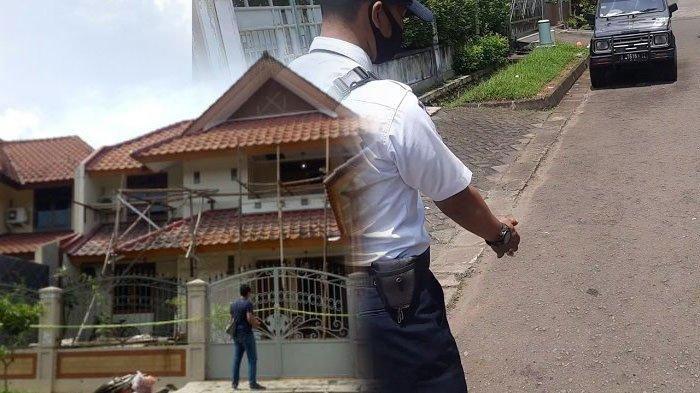Lokasi pembunuhan suami istri di Perumahan Giri Loka 2 BSD, Serpong, Tangerang Selatan, Sabtu 13 Maret 2021.