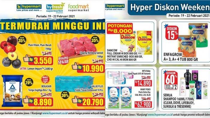 Promo Hypermart Hari Ini 20 Februari 2021, Diskon Daging Tepung Buah-buahan Susu Diapers Tissue DLL