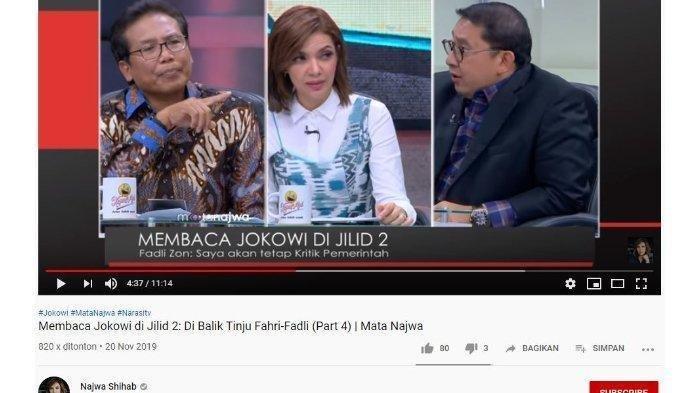 Debat Fadli Zon vs Fadjroel Rachman di Mata Najwa Najwa Shihab: Prabowo Jadi Menteri Enggak Masalah?