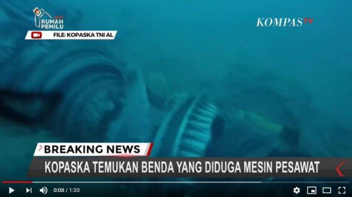 VIDEO Kopaska Temukan Puing Besar Diduga Mesin Pesawat Lion Air JT 610 yang Jatuh di Dasar Laut
