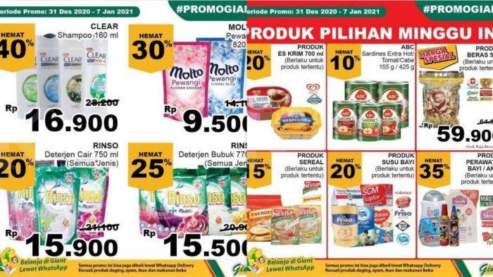 Promo Giant Terbaru 5 Januari 2021, Diskon Daging Giling Buah Minyak Popok Susu Gula Detergen Beras