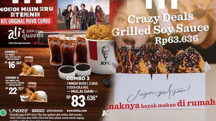 Promo KFC Hari Ini KFC Original Movie Combo Promo Mega Combo dan Crazy Deals Grilled Soy Sauce