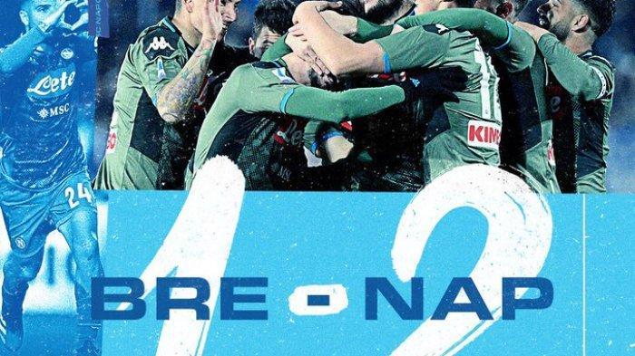 Liga Italia - Napoli Tekuk 2-1 Atas Brescia, Gelandang Rp 2,6 Jadi Pahlawan Jelang Bertemu Barcelona
