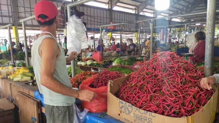 Pedagang cabai di Pasar Angso Duo.