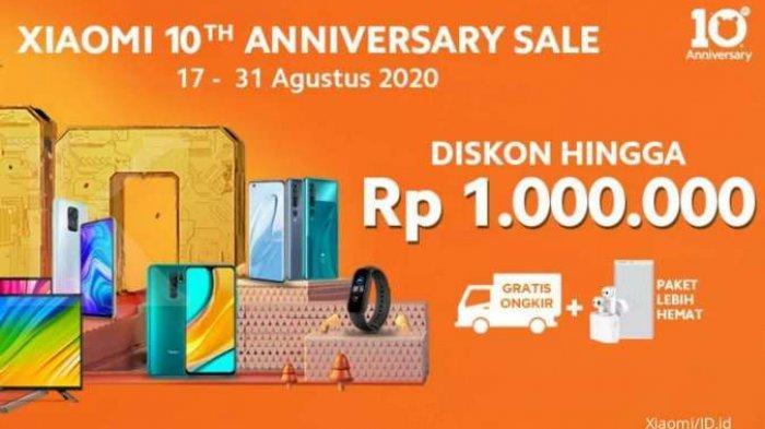 Promo Xiaomi 17-31 Agustus 2020 - Potongan Harga Produk HP, Smart TV, Aksesories Gadget