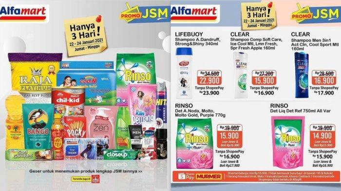 Promo Alfamart Hari Ini 24 Januari 2021, Minyak Goreng Beras Shampo Detergen Pewangi Susu Popok