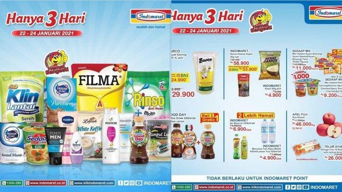 Promo Indomaret Hari Ini 23 Januari 2021, Diskon Minyak Beras Popok Susu Detergen Pencuci Piring