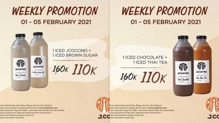 Promo Terbaru J.CO 2 Februari 2021, Harga Spesial 2 Botol J.Coffee Ukuran 1 liter Rp 110.000 Aja
