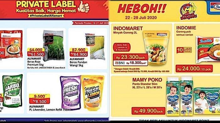 Promo Alfamart & Indomaret 23-31 Juli 2020 - Minyak Goreng, Camilan, Susu, Kebutuhan Rumah Tangga
