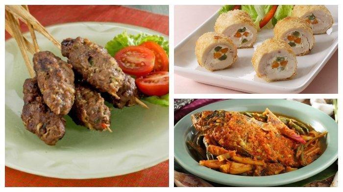 Resep Hidangan Natal - Sate Lilit Sapi, Arsik Ikan Mas Kecombrang, Ayam Gulung Cheesy Mayo