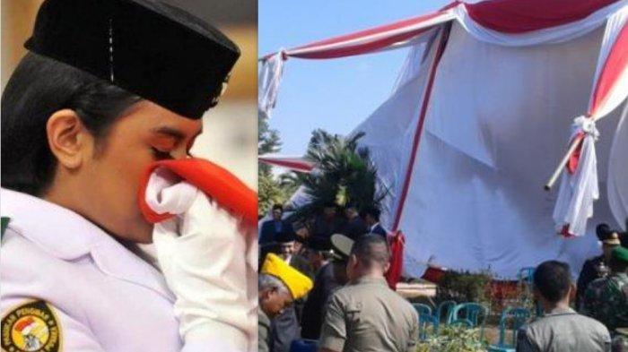 Insiden Fatal Paskibraka 17 Agustus Menyedihkan, Bendera Kebalik, Peci Nyangkut dan Gagal Berkibar