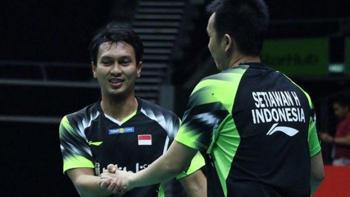 Ahsan/Hendra Sukses Tuntaskan Misi Balas Dendam, Melaju ke Final BWF World Tour Finals 2021