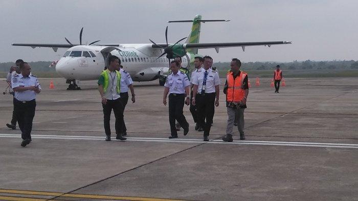 Petinggi Lima Kabupaten Ikut Sambut Pendaratan Perdana Citilink Palembang-Muara Bungo