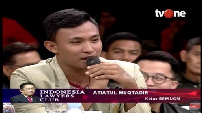 ILC Angkat Tema Kontroversi RKUHP, Ketua BEM UGM Atiatul Muqtadir 'Negara Kita Tidak Baik-baik Saja'
