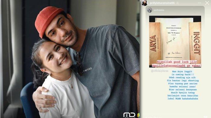 Prilly Latuconsina dan Reza Rahardian, bintang webseries My Lecturer My Husband