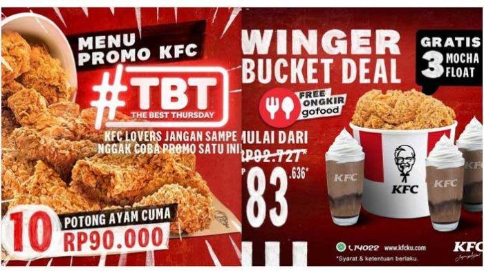 Promo KFC Hari Ini 25 Maret 2021 The Best Thursday 10 Potong Ayam Goreng Mulai Dari Rp 90.000