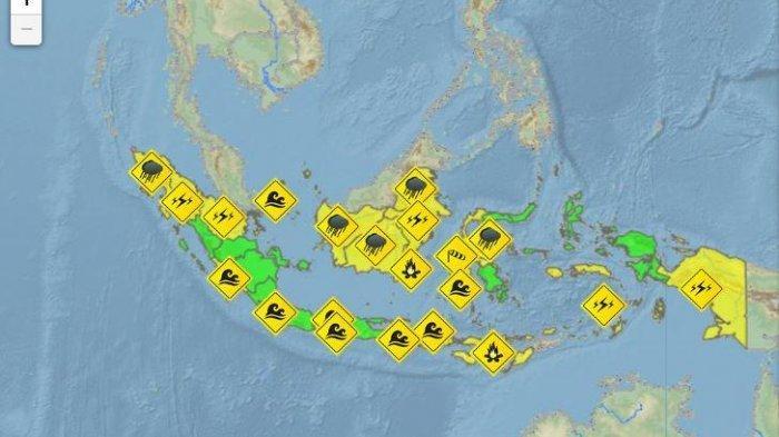 Update Peringatan Dini BMKG Kamis, 9 September 2021: Aceh, Jambi, Kalimantan, Sulawesi Hujan Petir