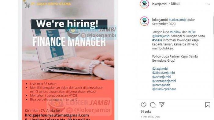 Lowongan Kerja Jambi September 2020 Untuk Lulusan Sma S1 Sopir Guru Operator Fotocopy Admin Tribun Jambi