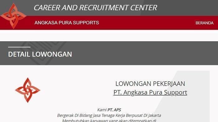 Lowongan Kerja - PT Angkasa Pura Support Rekrut Lulusan SMK D3 S1, Daftar Online Disini