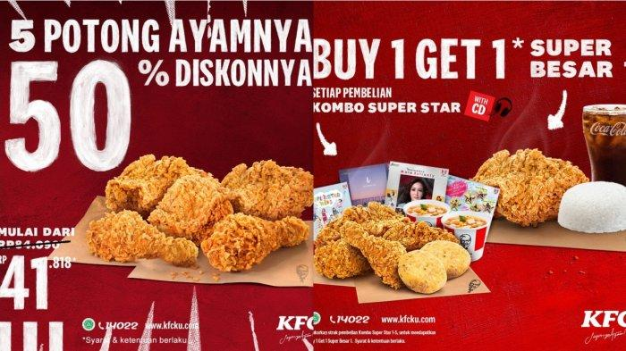 Promo KFC 26 November 2020 - 6 Potong Ayam Mulai Rp 41.818, Promo Buy 1 Get 1 Kombo Super Besar