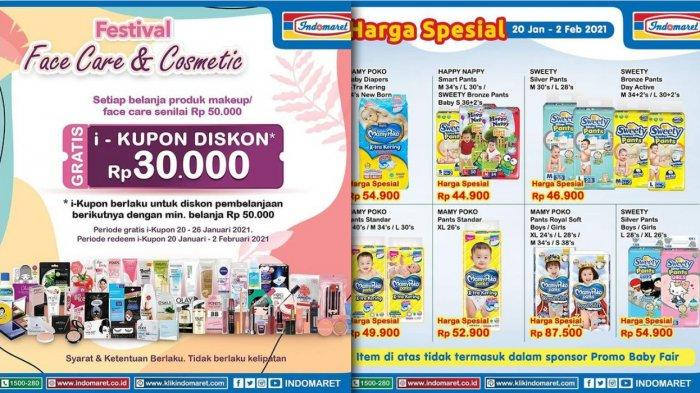 Promo Indomaret Hari Ini 29 Januari 2021, Diskon Minyak Popok Susu Personal care Home care Detergen