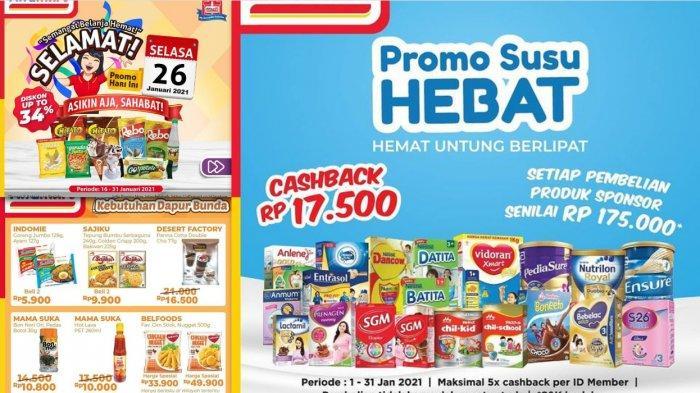 Promo Terbaru Alfamart Hari Ini 26 Januari 2021, Diskon Susu Deterjen Minyak Goreng Diapers Bumbu