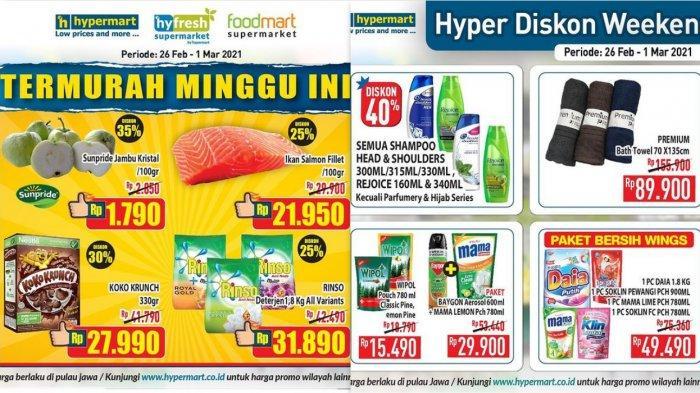 Promo Hypermart Terbaru 26 Februari 2021, Sampo Diskon 40%, Margarin Rp6.900, Diapers Diskon 15%
