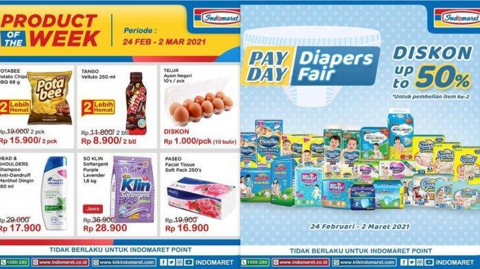Promo Indomaret Hari Ini 26 Februari 2021, Harga Hemat Telur Detergen Diapers Susu Beras Sampo Snack