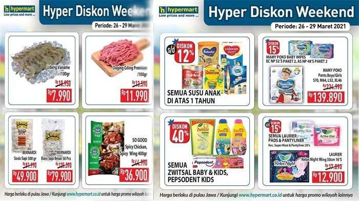 Promo Hypermart Hari Ini 26 Maret 2021 Produk Susu Anak Diskon 12% Diapers Diskon 15% DLL