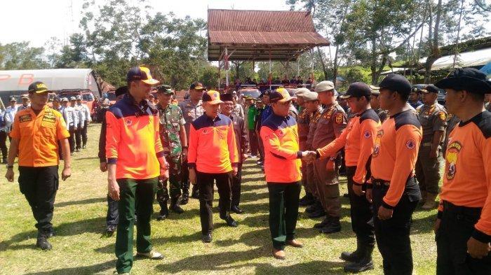 Jambi Rawan Bencana, Bupati Kerinci Dampingi Gubernur Simulasi Penyelamatan Pengungsi