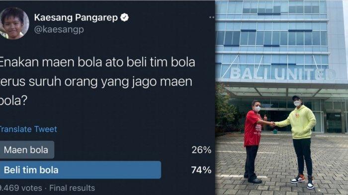 Ikuti Voting Netizen, Kaesang Pangarep Beli Saham Bali United