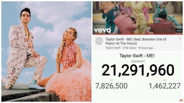 Lagu Taylor Swift - ME! feat.Brendon Urie Ditonton 56 Juta Kali, YouTube Sempat Hapus 10 Juta Viewer