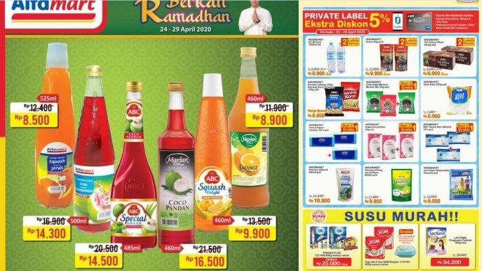 Promo Indomaret & Alfamart Berlaku 22-29 April 2020 - Susu, Snack, Sirup, Makanan Kaleng