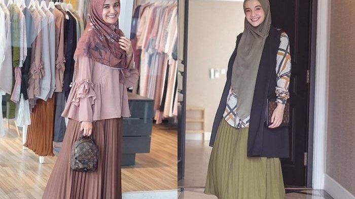 Modis dengan Rok Plisket Hijab ala Shireen & Zaskia Sungkar untuk Ramadhan 2019