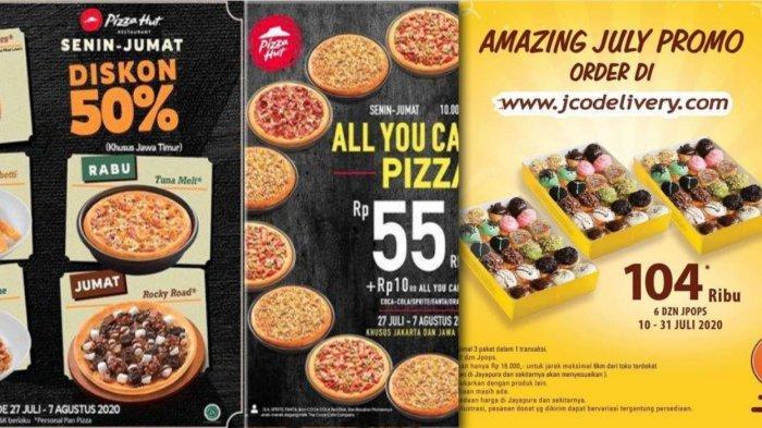 Promo Pizza Hut Jco Sampai 7 Agustus 2020 Diskon 50 Makan Sepuasnya Rp 55 Ribu Paket Donat Halaman All Tribun Jambi