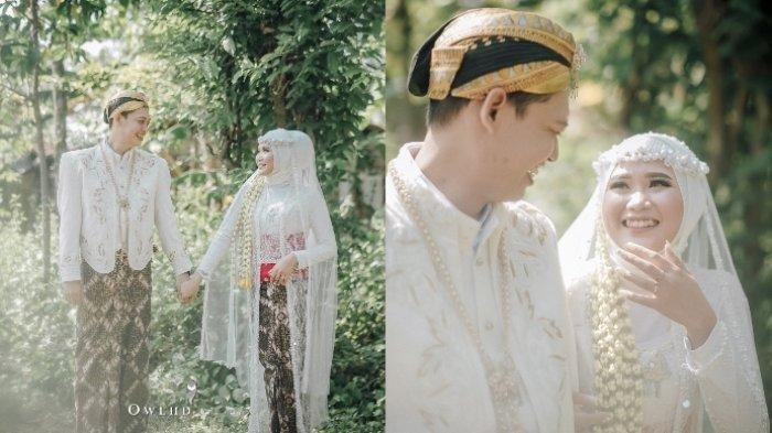 Hasil foto menikah tanpa dekorasi