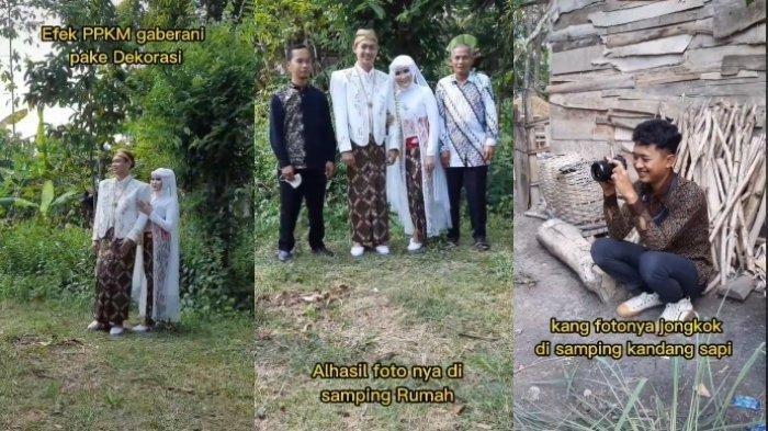 Menikah Tanpa Dekorasi, Kang Foto Sampai Jongkok di Samping Kandang Sapi saat Sesi Foto