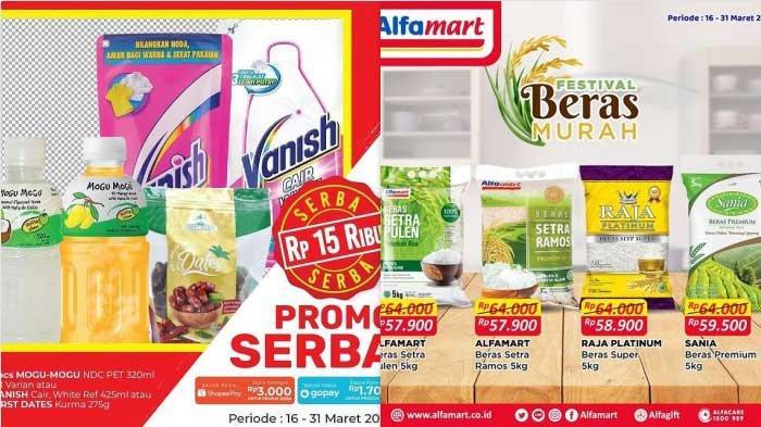 Promo Alfamart Hari Ini dan Besok 29 Maret 2021 Festival Beras Mulai dari Rp 57.900 & Serba Gratis