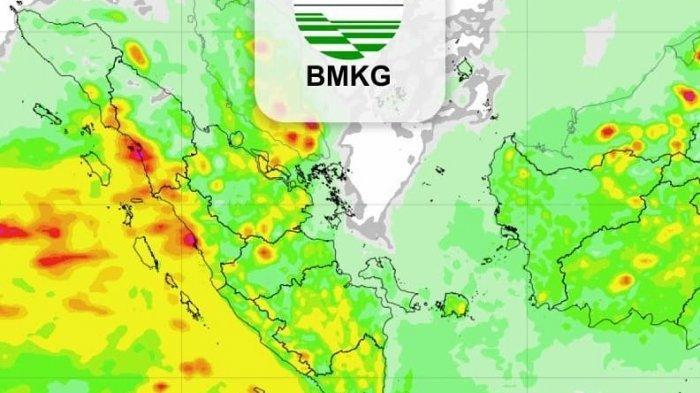 BMKG menghimbau sejumlah wilayah waspada hujan lebat disertai angin dan petir, gelombang tinggi hingga kebakaran lahan dan hutan