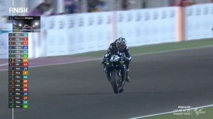 Hasil MotoGP Qatar 2021 - Maverick Vinales Jawara, Valentino Rossi Harus Puas di Posisi 13