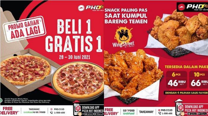Promo Gajian PHD Hari Ini 29 Juni 2021 Beli 1 Pizza Reguler atau Large Gratis 1 Meaty Pizza Reguler