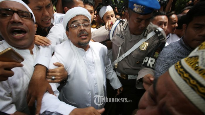 Dimana HRS? Tak Muncul Saat Keluarga Laskar FPI Tuntut Keadilan di DPR, Begini Jawaban FPI