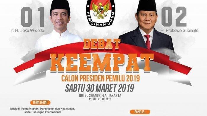 Debat Keempat Pilpres 2019, Jadi Ajang Curhat, Jokowi & Prabowo Mengeluh Soal Fitnah PKI & Khilafah