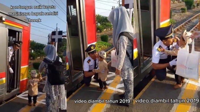 Video Viral - Wanita Bogor Ini Berangkat ke Kondangan Dijemput Suami Pakai Kereta