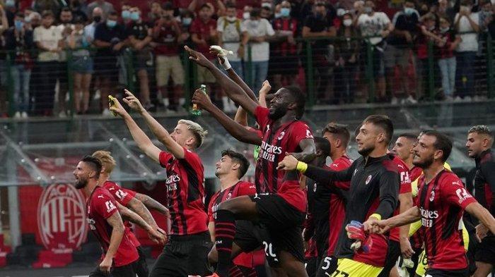 AC Milan setelah mengalahkan Cagliari 4-1 di San Siro, Senin (30/8/2021) dini hari.