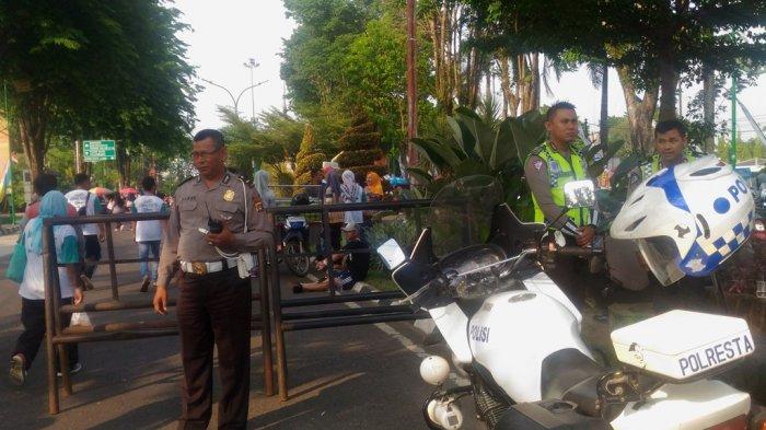 Acara Jalan Sehat Tribun Jambi Bersama Luwak White Koffie Dijaga Puluhan Polisi dan Petugas Dishub
