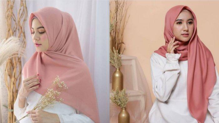 INSPIRASI Gaya Hijab Segi Empat yang Bisa Dipakai saat Bulan Suci Ramadhan 2021, Mudah Loh!