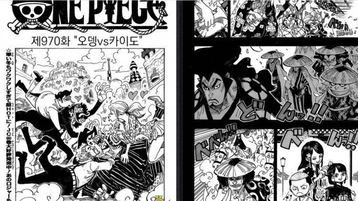 One Piece Chapter 970 - Oden vs Kaido, Terluka Pedang Enma Kaido Lakukan Cara Curang Kalahkan Oden